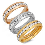 HMY Jewelry Collection - CZ Eternity Band Rings, Set of 3