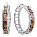 Jewelry Collection - Multi-Colored Hoop Earrings