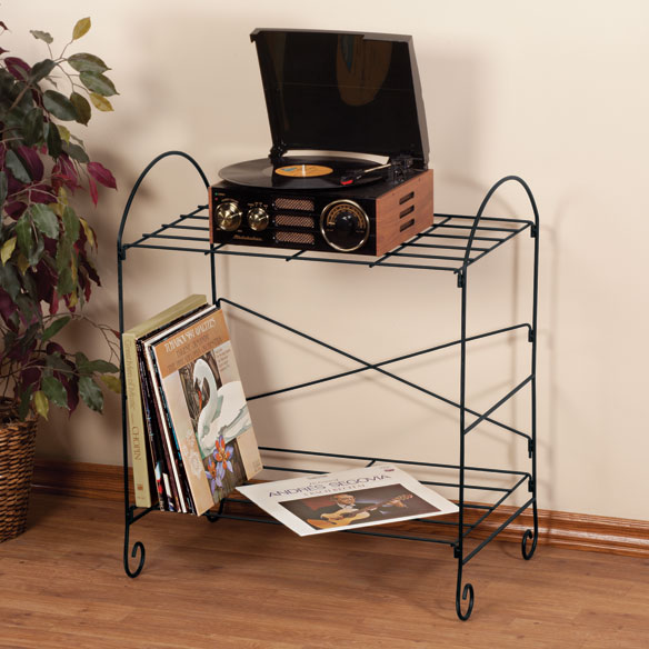 Wire Record Turntable Stand