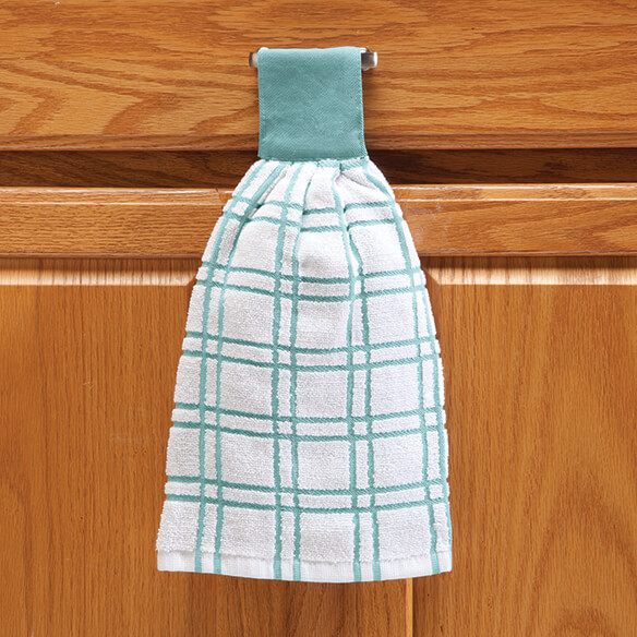 Cotton Hanging Towel - Checked