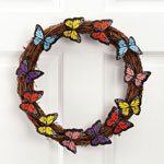 Outdoor Décor - Grapevine Wreath with Butterfly Accents