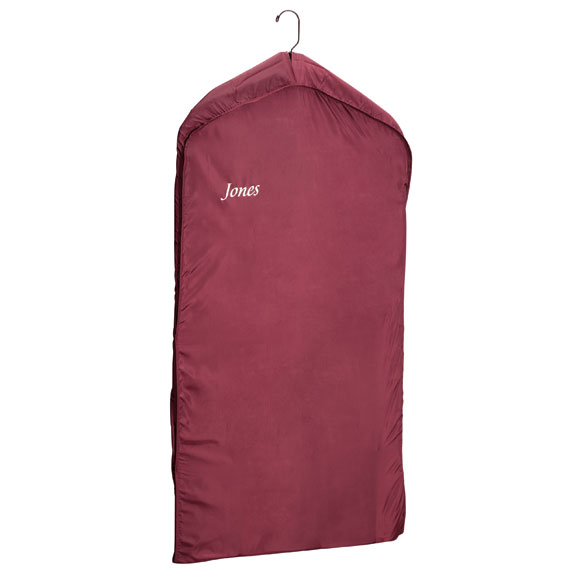 Personalized Burgundy Nylon Dress Bag