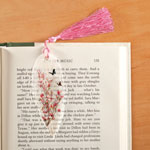 Books & Videos - Leaf Bookmark with Butterflies, Pink