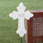 Outdoor Décor - Personalized Memorial Cross Stake