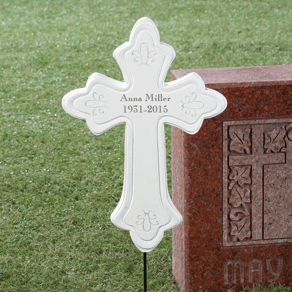 Personalized Memorial Cross Stake