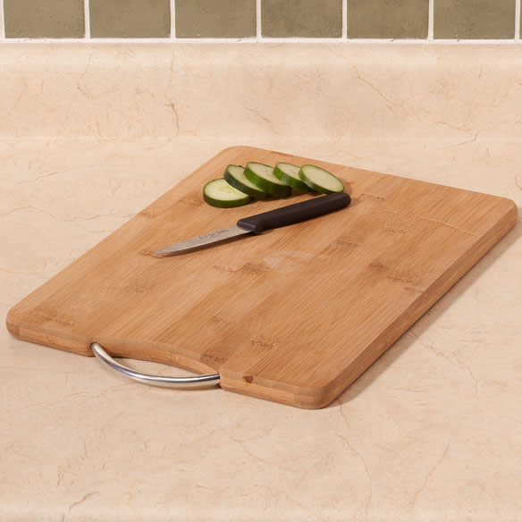 "Bamboo Cutting Board with Handle, 11"" x 15"""