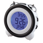 Bedroom Basics - LCD Retro Bell Alarm Clock