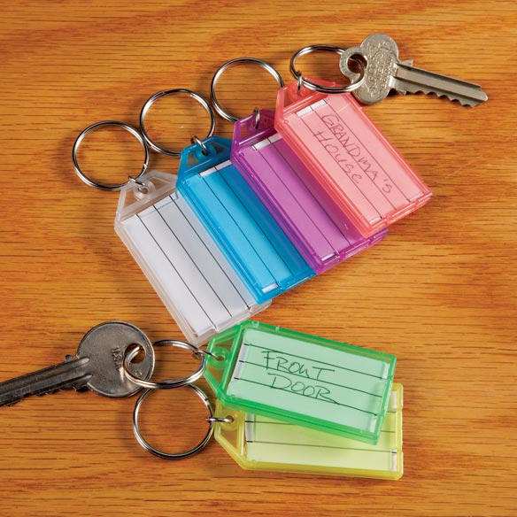 Key Ring Tags, Set of 6 - View 1