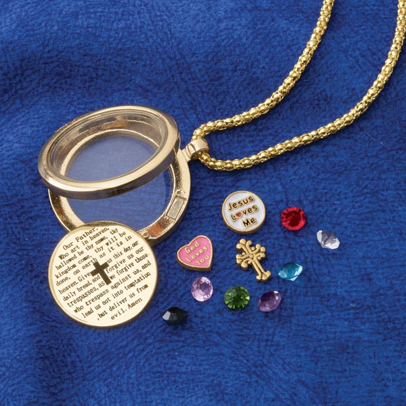 Lord's Prayer Charm Locket - View 1
