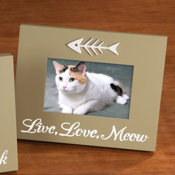 LED Live, Love, Meow Picture Frame - View 1