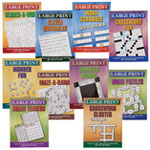 Books & Videos - Large Print Puzzle Books - Set of 10