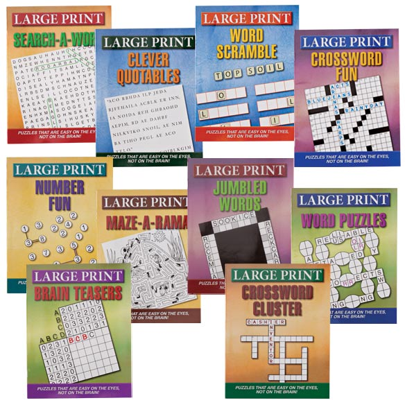 Large Print Puzzle Books - Set of 10