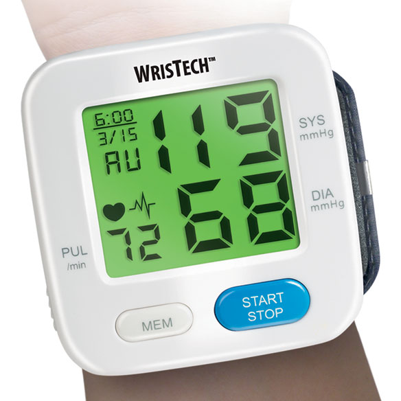 Color Changing Wrist Blood Pressure Monitor - View 1