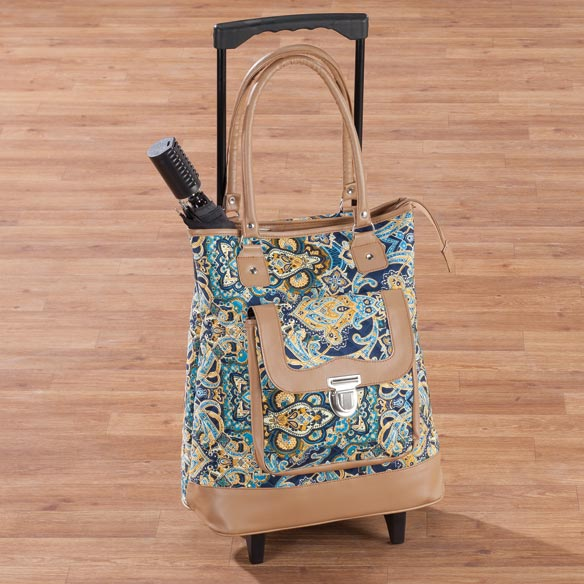 Quilted Rolling Tote
