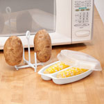 Bakeware & Cookware - Microwave Potato Baker and Microwave Corn Steamer