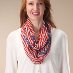 Decorations & Storage - American Flag Infinity Scarf