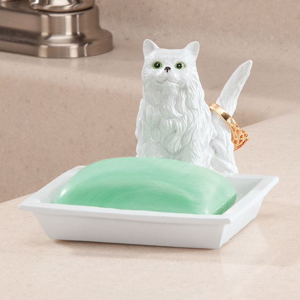 Playful Cat Soap Dish & Ring Holder