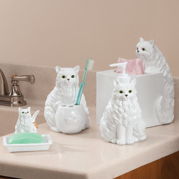 Playful Cat Bathroom Accessories, Set of 4 - View 1