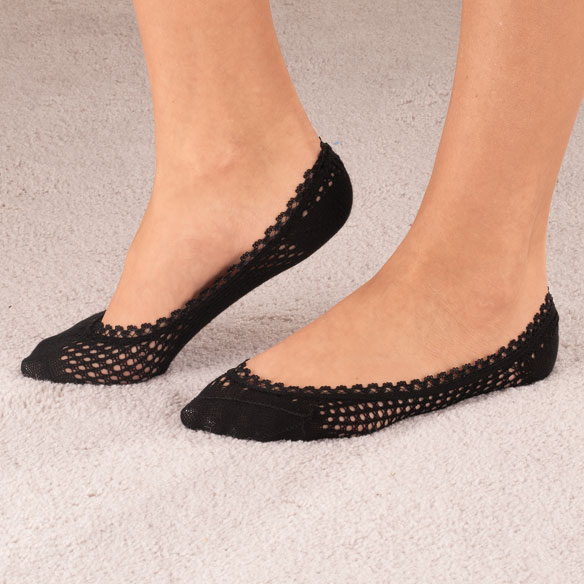 Lace Trim Cushioned Foot Liner, 1 Pair