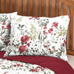 Bedroom Basics - Reversible Ruby Meadow Bed Sham