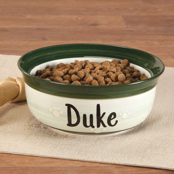 Personalized Ceramic Pet Dish - View 1