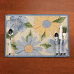 Organization & Decor - Floral Placemats, Set of 4