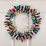 "Outdoor Décor - 14"" Metal Butterflies Wreath by Maple Lane Creations™"