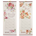 New - Pastel Floral Scroll Calendar