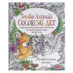 New - Adult Tender Animals Coloring Book