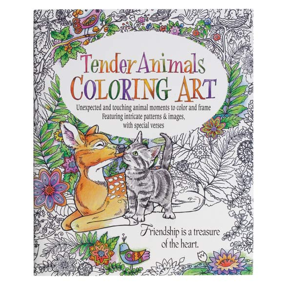 Adult Tender Animals Coloring Book