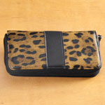 Handbags & Wallets - Leopard Print Zip Around Wallet