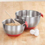 Home-Style Kitchen - Heavy Duty Mixing Bowls, Set of 2