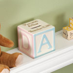 Decorations & Storage - Personalized Baby Block Coin Bank
