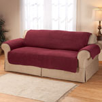New - Sherpa Extra-Large Sofa Protector by OakRidge Comforts™