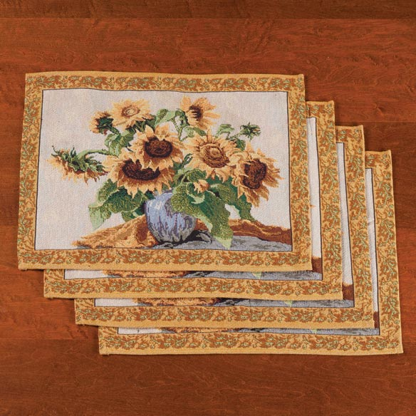 Sunflower Placemats, Set of 4