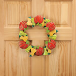 Holidays & Gifts - Pumpkin & Gourds Metal Wreath by Maple Lane Creations™