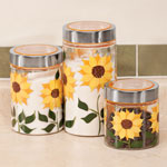 Food Storage - Sunflower Canisters, Set of 3