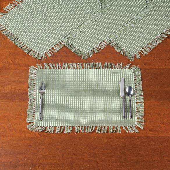 Homespun Woven Placemats, Set of 4