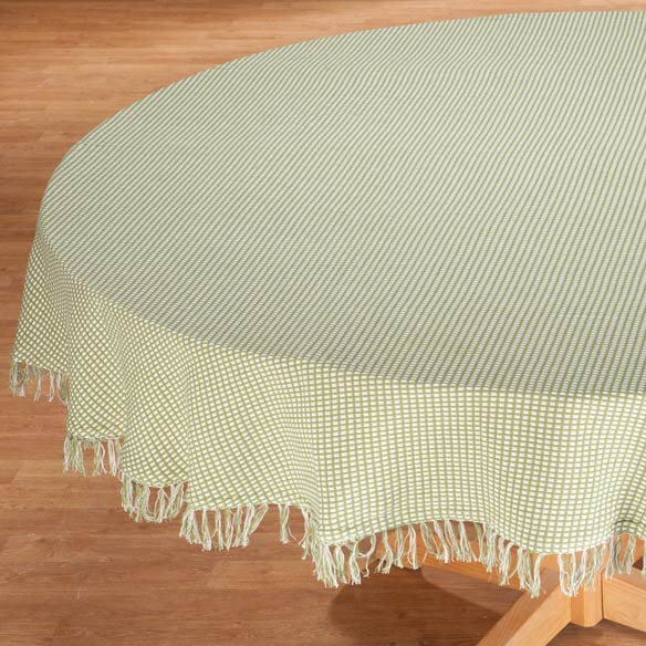 Homespun Woven Tablecloth - View 1