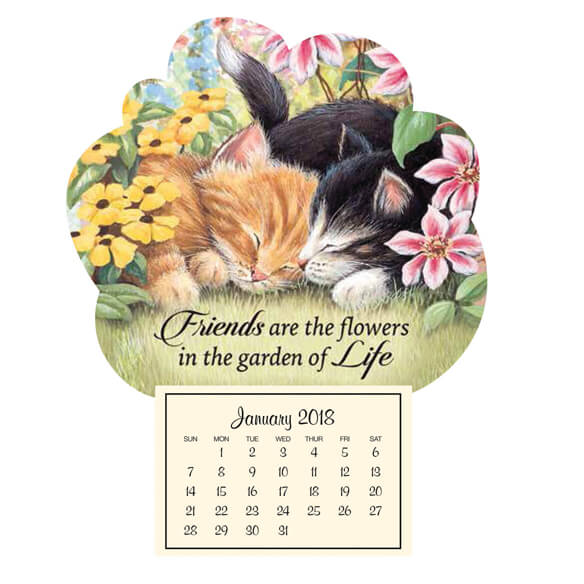 Mini Magnetic Calendar–Kitten Friends