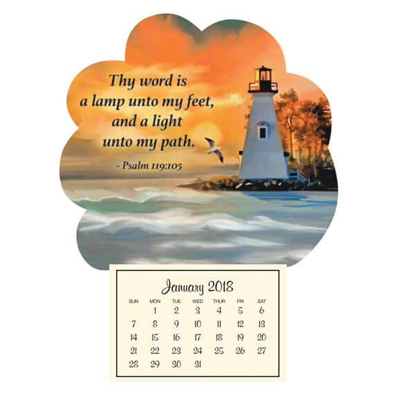 Mini Magnetic Calendar–Lighthouse
