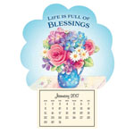 New - Mini Magnetic Calendar–Blessings