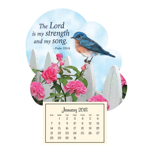 Mini Magnetic Calendar–Bluebird