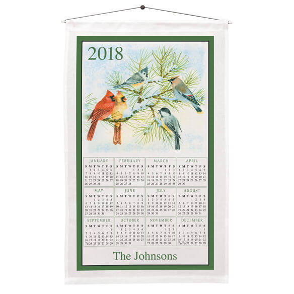 Personalized Songbirds Calendar Towel