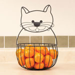Organization & Decor - Black Cat Fruit Basket