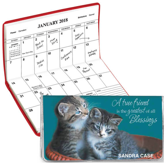 Personalized 2 Yr. Planner Friendship Blessings