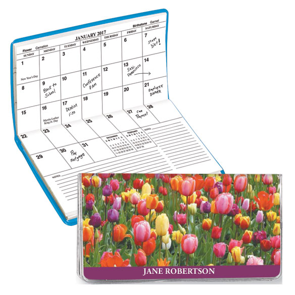 Personalized 2 Yr. Planner Tulips