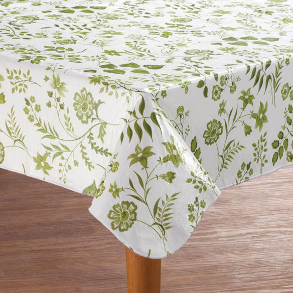 Flowing Flowers Vinyl Table Cover - View 1