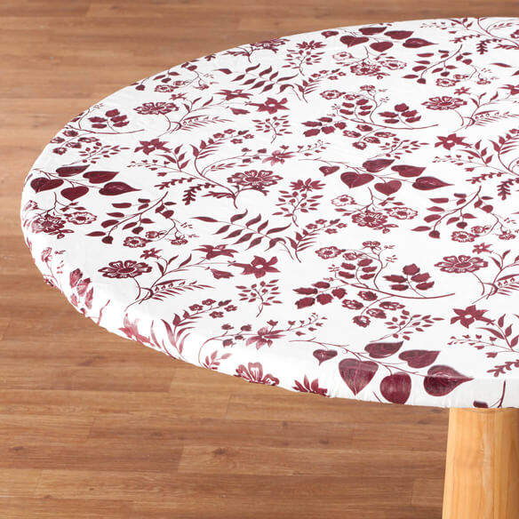 Flowing Flowers Vinyl Elasticized Table Cover