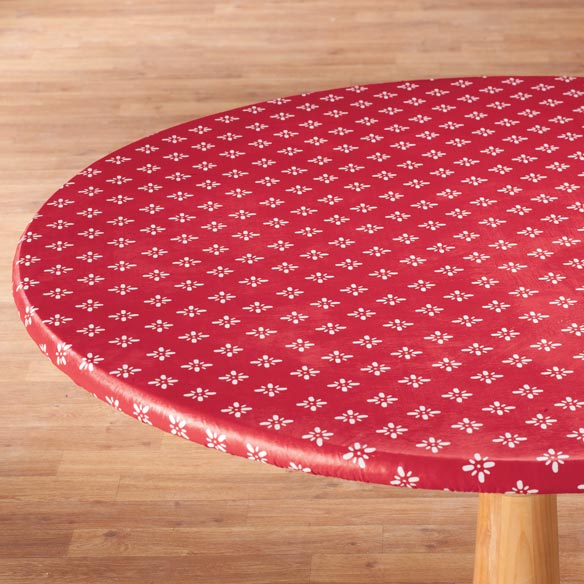 Heritage Vinyl Elasticized Table Cover - View 1